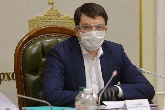 Хворий на Covid-19 Разумков у суботу збирає нараду з Єрмаком, Шмигалем і головами фракцій