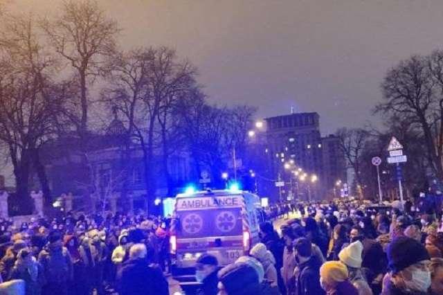 Акція протесту на Банковій: Червоний Хрест заявив про понад 10 потерпілих